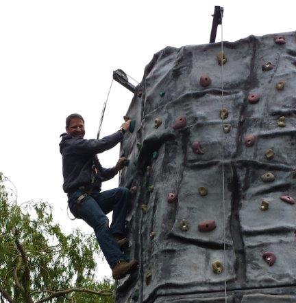 Steve Backshall Climbing Wall