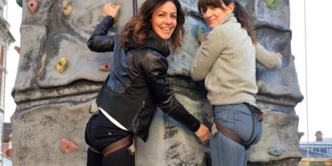 Davina McCall and Julia Bradbury Climbing